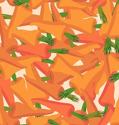 Carrot pattern Seamless background with orange vector image vector image