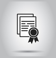 Certificate diploma icon on isolated background vector
