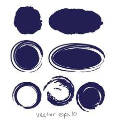 Circle ink drop set vector