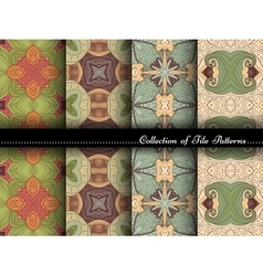 Collection of Seamless Vintage Patterns vector image vector image