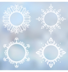 Decorative frames set vector image vector image