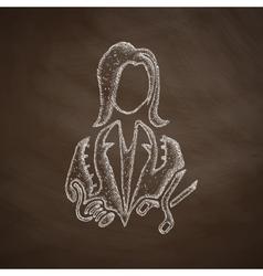 Dressmaker icon vector