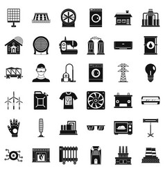 Electrical engineering icons set simple style vector