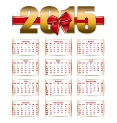 Elegant template of calendar vector
