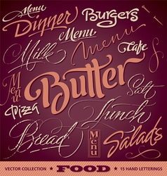 FOOD menu headlines set vector image vector image