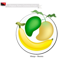 Fresh mango a famous fruit in papua new guinea vector