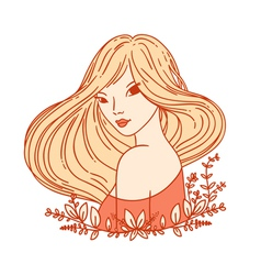 Girl portrait vector image