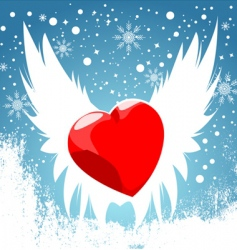 heart wing vector image vector image