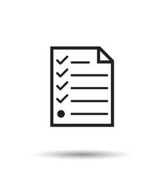 hecklist icon flat document check sign symbol vector image