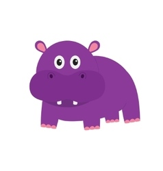 Hippopotamus Cute cartoon charachter hippo with vector image