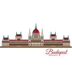 hungarian parliament building the symbol of vector image