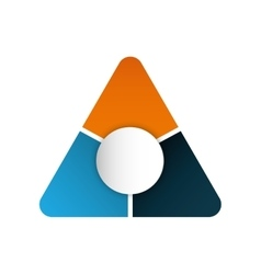 Infographic triangle multicolored data icon vector