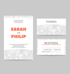 Invitation cards for the holiday vector