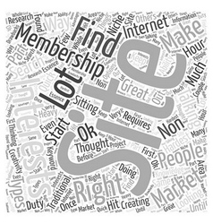Membership sites are a non traditional way of vector