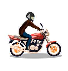 motorcyclist on a motorcycle isolated vector image vector image