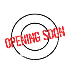 Opening soon rubber stamp vector