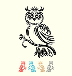Owl with crown vector