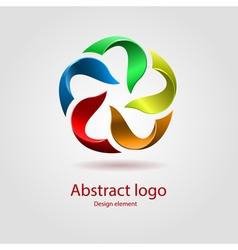 rainbow logo design element vector image