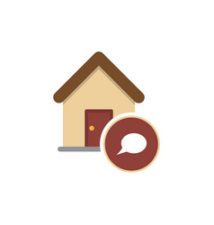 real estate message house in bubble sign vector image