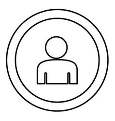 Round symbol face person icon vector