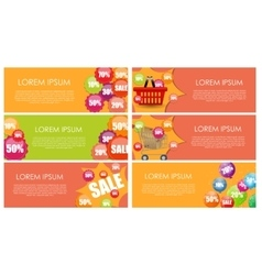 Sale Banner Set with Place for Your Text vector image vector image