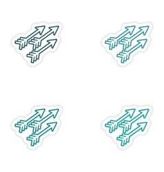 Set of stickers indian arrows on white background vector
