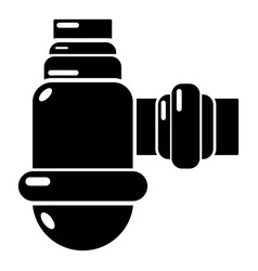 Sewage siphon icon simple black style vector
