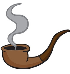 smoking pipe vector image