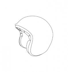 sports helmet vector image vector image