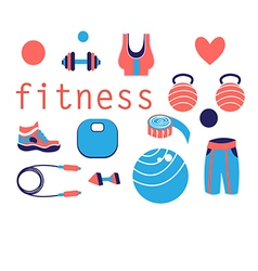 tools for sports and fitness vector image