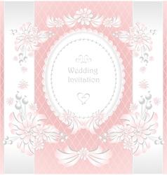 Wedding invitation or congratulation in pink vector