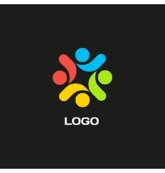 Isolated abstract colorful logo decorative vector