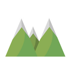 Mountains peak nature image vector