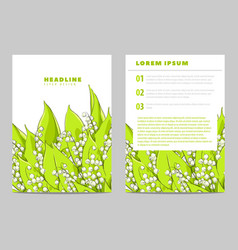 Invitation card with lilies of the valley vector
