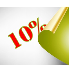 Ten percent discount coupon vector