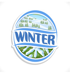 logo for winter season vector image