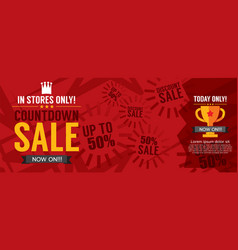 Countdown sale promotion banner vector