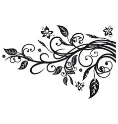 Leaves flowers vector