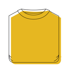 yellow watercolor silhouette of man t-shirt folded vector image