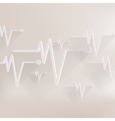 Heart beat cardiogramm pulse icon vector