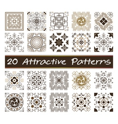 20 Attractive Patterns Art 03 vector image vector image