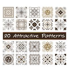 20 Attractive Patterns Art 03 vector image