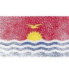 Flag of kiribati with old texture vector
