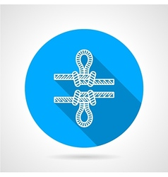 Flat color icon for rope knot vector