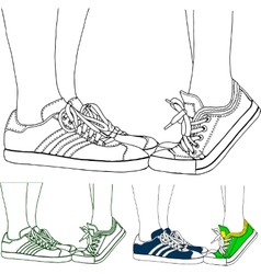 Sports shoes vector