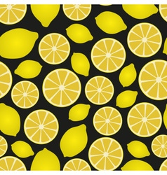 Colorful lemon fruits and half fruits seamless vector