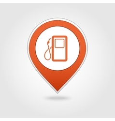 Gas station map pin icon vector