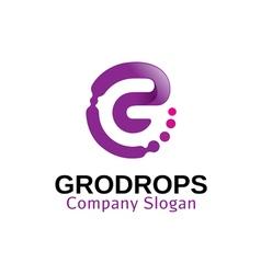 Grodrops design vector