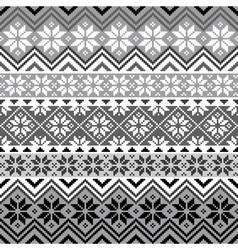 nordic snowflake pattern vector image