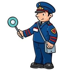 Funny railroader Children vector image
